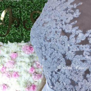Robe de mariée trapèze longues manches